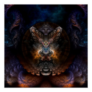 Orthricon Fractal Art Perfect Poster