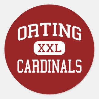 Orting - cardenales - alto - Orting Washington Etiqueta