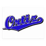 Ortiz en azul postales