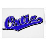 Ortiz en azul tarjetón
