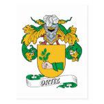 Ortiz Family Crest Postcard