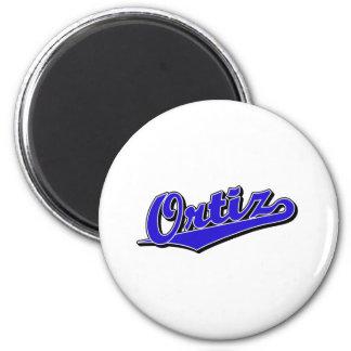 Ortiz in Blue 2 Inch Round Magnet