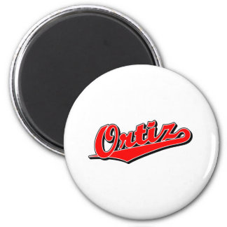 Ortiz in Red 2 Inch Round Magnet