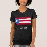 Ortiz Puerto Rican Flag Tee Shirts