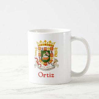 Ortiz Shield of Puerto Rico Coffee Mugs
