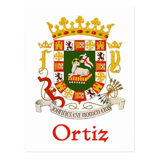 Ortiz Shield of Puerto Rico Postcard