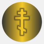 Ortodoxo ruso etiquetas redondas