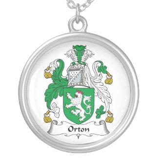 Orton Family Crest Round Pendant Necklace