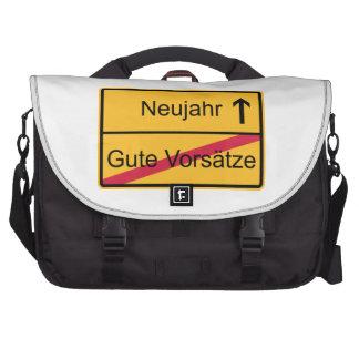 Ortsschild alemán bolsas de portátil