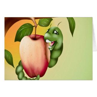 oruga feliz tarjeta de felicitación
