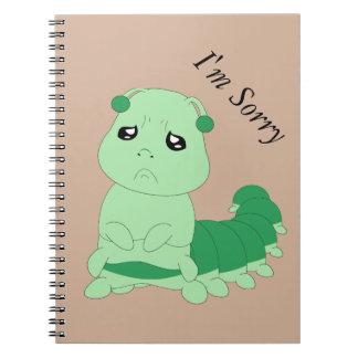 Oruga triste - cuaderno de la foto