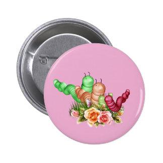 Orugas de Toon para el botón de los niños Pin Redondo De 2 Pulgadas