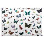 Orugas y mariposas lindas del dibujo animado manteles individuales