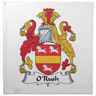 O'Rush Family Crest Napkin