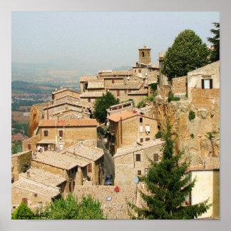 Orvieto, Italy photography poster