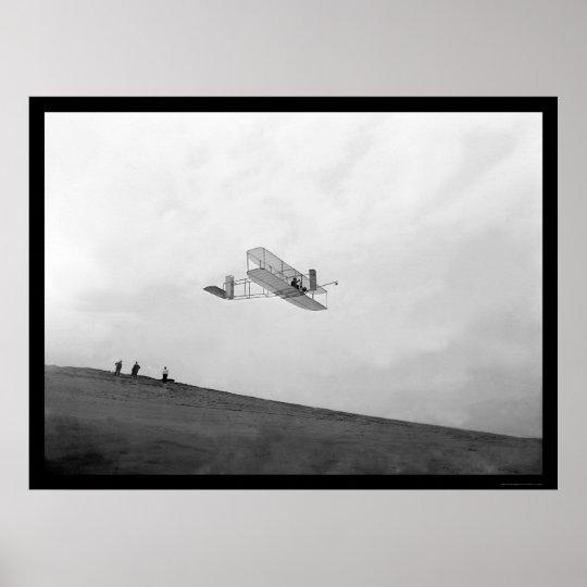 Orville Gliding Kitty Hawk 1901 Poster
