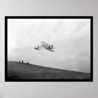 Orville que desliza Kitty Hawk 1901 Póster