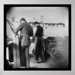 Orville Wright en la tienda 1897 de la bicicleta d Impresiones