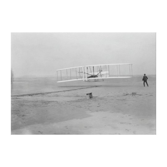 Orville Wright on First Flight at 120 feet Canvas Print