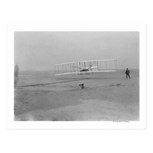 Orville Wright on First Flight at 120 feet Postcard