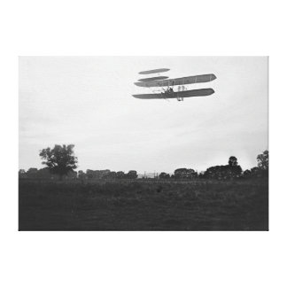 Orville Wright on Flight 41 at 60 foot high Canvas Print