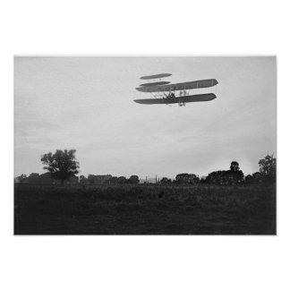 Orville Wright on Flight 41 at 60 foot high Poster