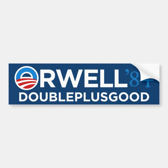Orwell 1984 Bumper Sticker