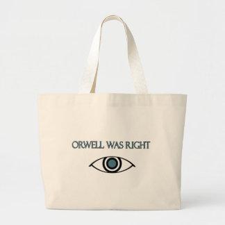 Orwell correcto bolsa tela grande
