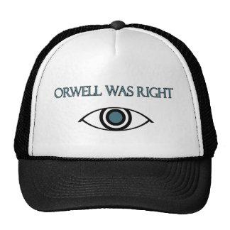 Orwell correcto gorros