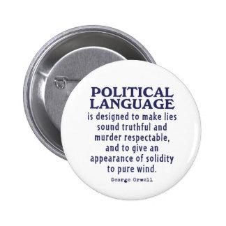 Orwell en lengua política pin