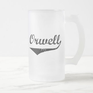 Orwell 16 Oz Frosted Glass Beer Mug