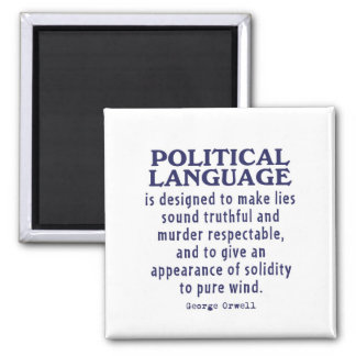 Orwell on Political Language 2 Inch Square Magnet
