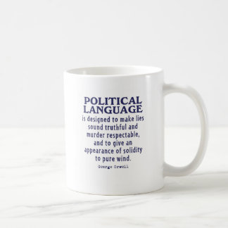 Orwell on Political Language Coffee Mug