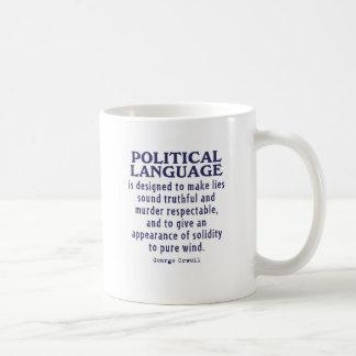 Orwell on Political Language Coffee Mug