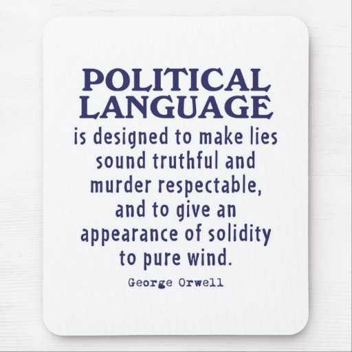 Orwell on Political Language Mouse Pad