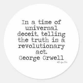 Orwell Truth Classic Round Sticker