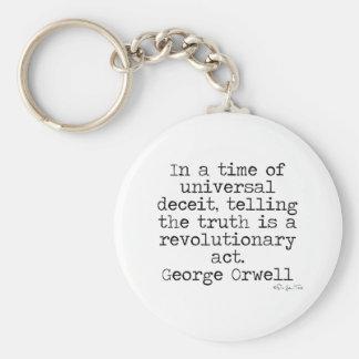Orwell Truth Keychain