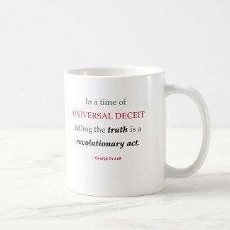 Orwell Truth Quote Mug