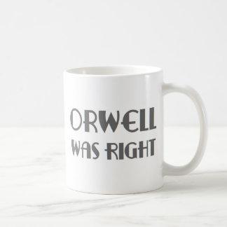 orwell was right coffee mug