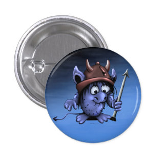 ORZ ALIEN MONSTER CARTOON Round Button Small