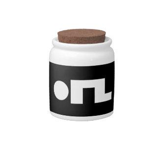 ORZ Emoticon Kaomoji Emoji Candy Jars