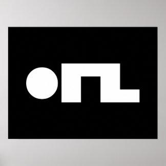 ORZ Emoticon Kaomoji Emoji Poster