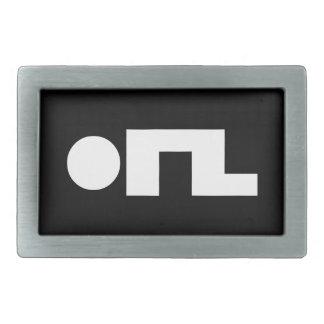 ORZ Emoticon Kaomoji Emoji Rectangular Belt Buckle