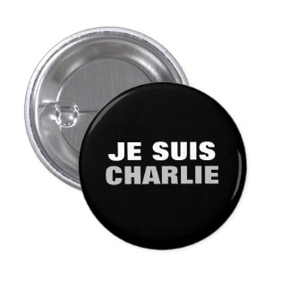 OS de Je Suis Charlie Chapa Redonda 2,5 Cm
