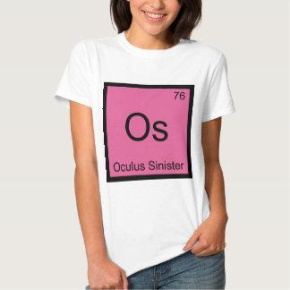 Os - Oculus Sinister Chemistry Element Symbol Eye T-shirts