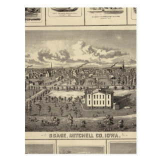 Osage Bldgs, farms, residences Postcard