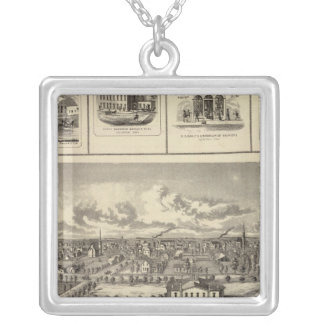 Osage Bldgs, farms, residences Silver Plated Necklace