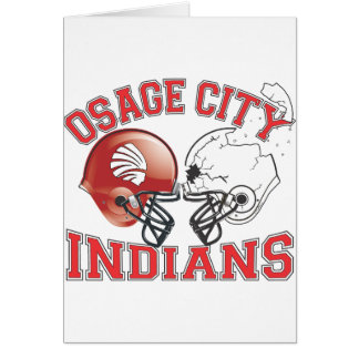 Osage City Indians Crashing Helmets Card