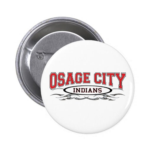 Osage City Indians Razors 2 Inch Round Button
