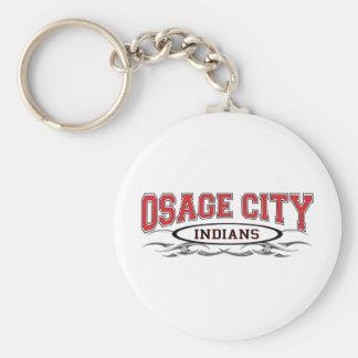 Osage City Indians Razors Keychain